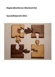 Regionalkonferenz Oberland-Ost Geschäftsbericht 2011