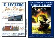 Concert de Gala 2009 - Musique municipale de Cernay