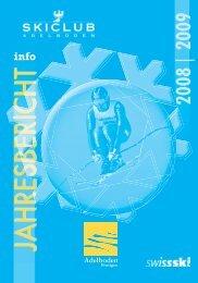 Jahresbericht 2008/2009 - Skiclub Adelboden