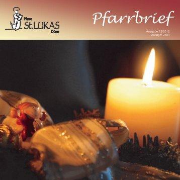 Pfarrbrief - St. Lukas