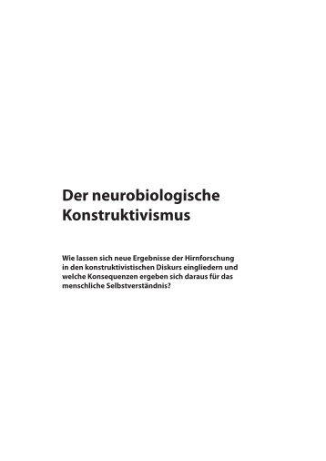 4. Der neurobiologische Konstruktivismus - E-LIB - Universität Bremen