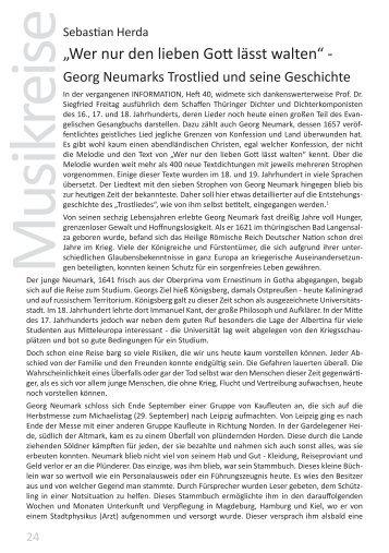 """""""Wer nur den lieben Gott lässt walten"""" -"""