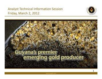 March 2, 2012 - Guyana Goldfields Inc.