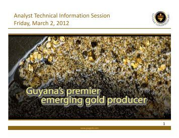 March 2, 2012 - Guyana Goldfields Inc.