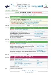 GIE Conference Programme - GIE - Gas Infrastructure Europe