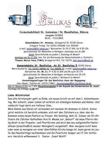 Gemeindeblatt Ausgabe 22.2012 - St. Lukas