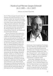 Nachruf auf Werner Jürgen Schmidt - Deutsche Zoologische ...