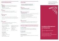 Compliance-Management an Hochschulen - Kanzlernet.de