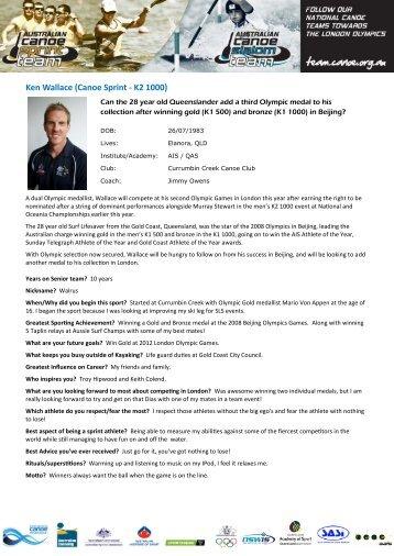 PDF Printable Ken Wallace Bio - Australian Canoeing