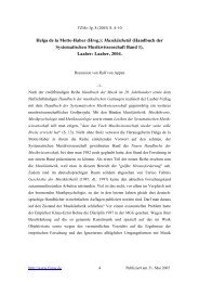 Helga de la Motte-Haber, Musikästhetik - FZMw Frankfurter ...