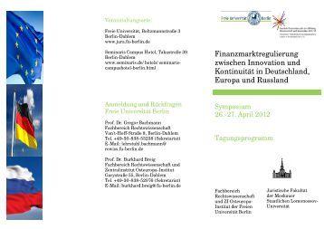 Finanzmarktregulierung zwischen Innovation und Kontinuität in ...