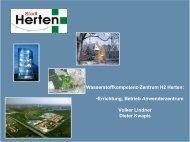 Wasserstoffkompetenz-Zentrum H2 Herten - NRW spart Energie