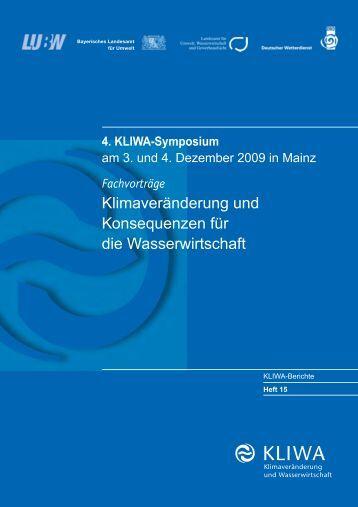 KLIWA Heft 15 (PDF, 12 MB)