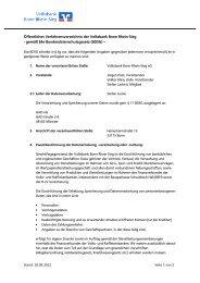 Öffentliches Verfahrensverzeichnis nach BDSG - Volksbank Bonn ...