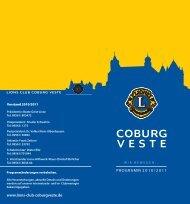 Programm 2010/2011 www.lions-club-coburgveste.de