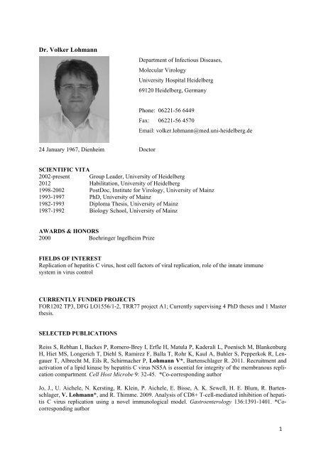 Dr. Volker Lohmann - CellNetworks
