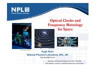 Optical Clocks and Frequency Metrology for Space - UCLA Physics ...