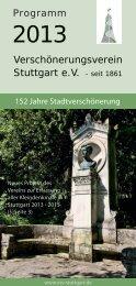 Jahresprogramm 2013 - Verschönerungsverein Stuttgart