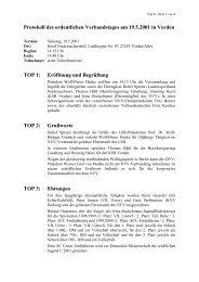 Protokoll NVV-Verbandstag 2001