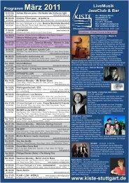 Programm März 2011 - Kiste