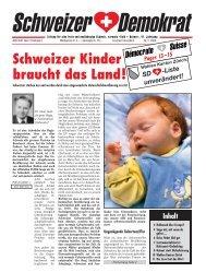 Schweizer Kinder braucht das Land! - Schweizer Demokraten SD