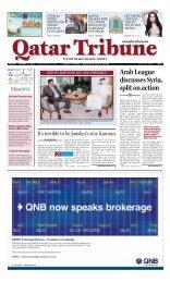 Arab League discusses Syria, split on action - Qatar Tribune