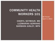 Community health Workers 101 - Maine Primary Care Association