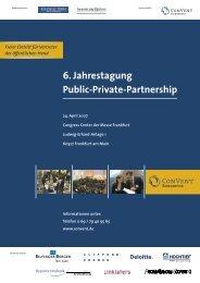 6. Jahrestagung Public-Private-Partnership - Convent