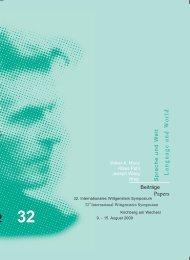 Language and W orld - Austrian Ludwig Wittgenstein Society