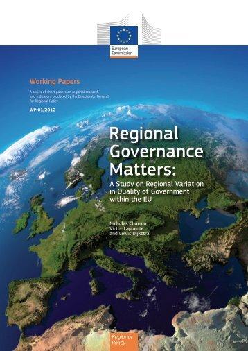 Regional Governance Matters: