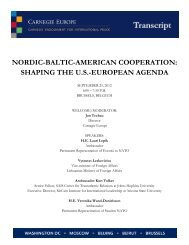nordic-baltic-american cooperation - Carnegie Endowment for ...
