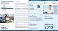 Fortbildungsprogramm für das Jahr 2013