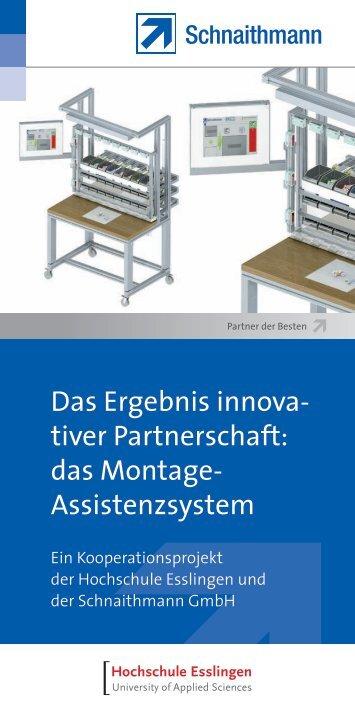 das Montage Assistenzsystem - Schnaithmann