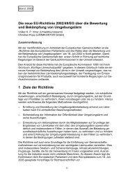 EU-Richtlinie 2002/49/EG - Lärmkontor GmbH