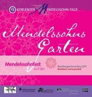 Mendelssohnfest - Koblenzer Mendelssohn-Tage