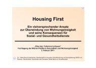 Housing First - Plattform Gesundheit und Wohnungslosigkeit