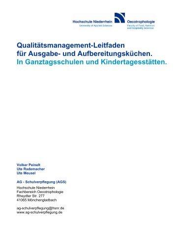 Qualitätsmanagement-Leitfaden für Ausgabe - AG-Schulverpflegung