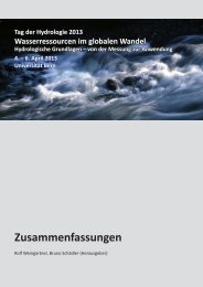 Abstractsband (PDF) - Universität Bern