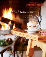 Wintermailing 2012/13 - Hotel Montafoner Hof