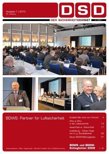 BDWS: Partner für Luftsicherheit