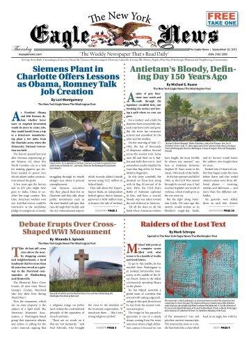 September 20, 2012 - New York Eagle News
