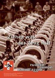 rudern-aviron-canottaggio 1/2011 - Schweizerischer Ruderverband