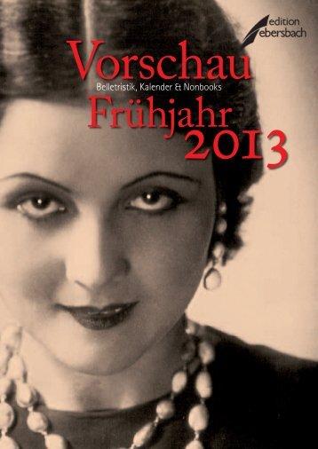 Vorschau Frühjahr 2013 - indiebook