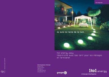 Téléchargez le prospectus 1to1 energy easy 2012 - Groupe E