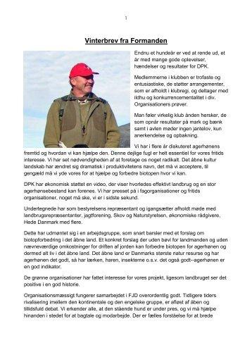 Nyhedsbrev Dec. 08 - Dansk Pointer Klub