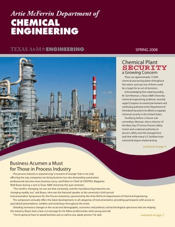 security - Department of Chemical Engineering - Texas A&M University