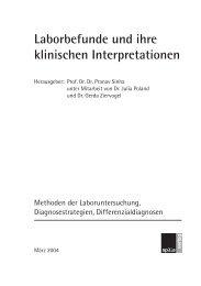 Laborbefunde und ihre klinischen Interpratationen ... - Spitta Verlag
