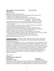 1 PROFESSIONAL VITAE TOM OWEN EIN - Owl Investigations, Inc