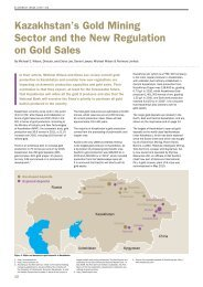 Kazakhstan's Gold Mining Sector and the New Regulation on Gold Sales