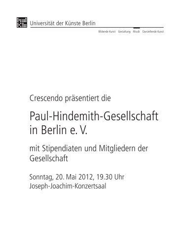 Paul-Hindemith-Gesellschaft in Berlin e. V.